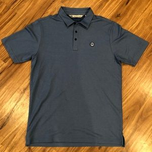 Travis Mathew M Blue Polo Patch Logo